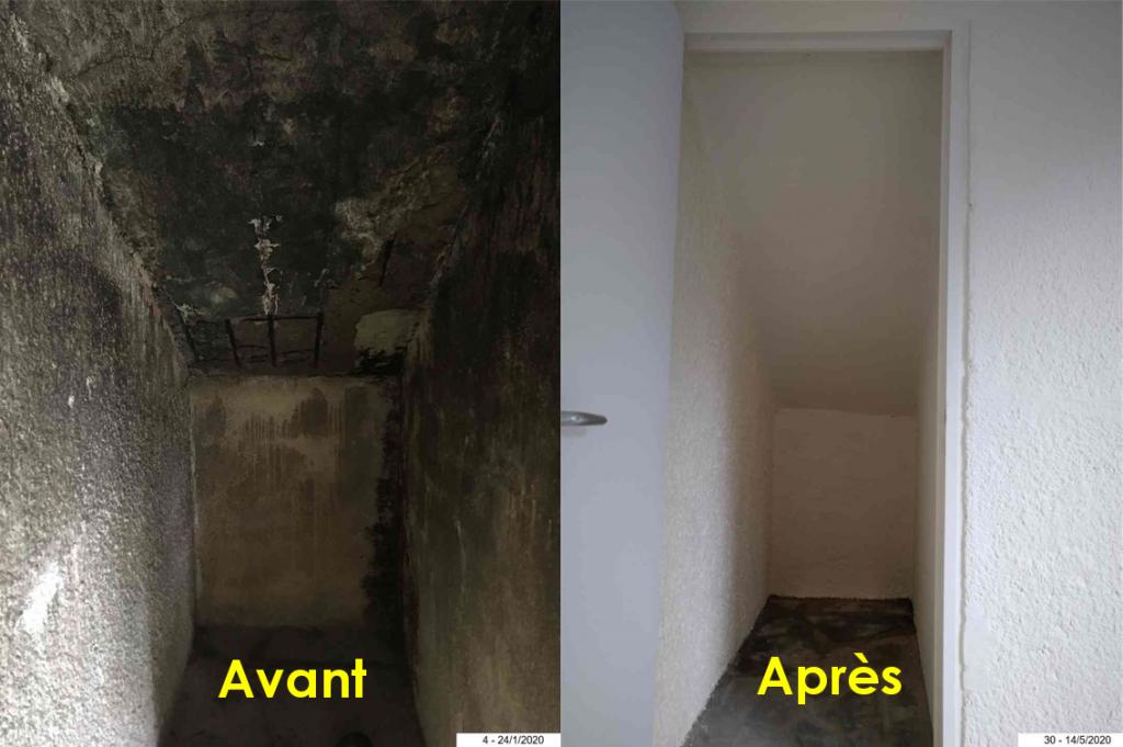 Décontamination et rénovation carrelage, enduit, peinture murs...